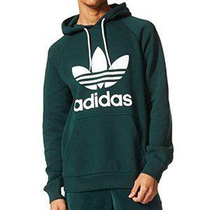 Adidas Originals Green Trefoil Logo Men's Hoodie